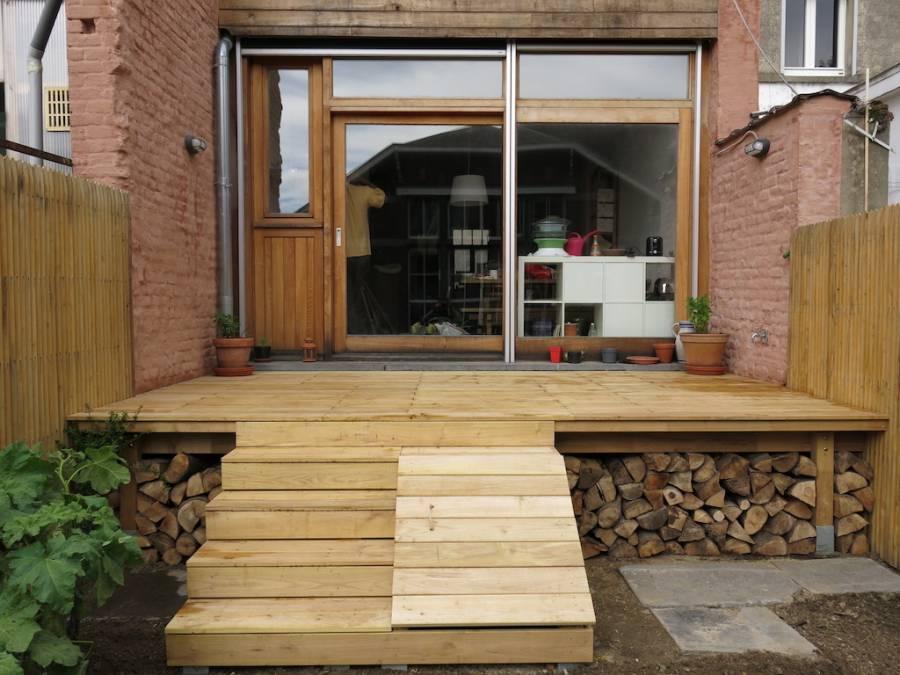 terrasse en bois de robinier bruxelles. Black Bedroom Furniture Sets. Home Design Ideas